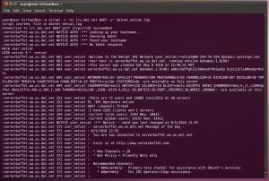 Logging a Linux Terminal
