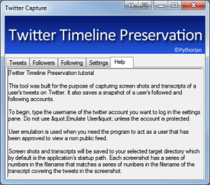 Capture protected users twitter timeline screenshot transcribe